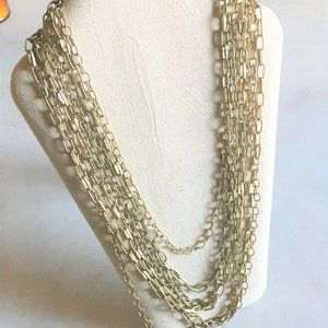 Banana Republic matte gold multi strand necklace